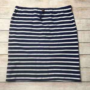 VINEYARD VINES | knit cinch waist stripe skirt S